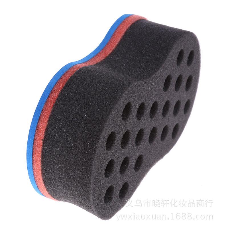 Характер негр кудри губка дуплекс кудри губка кудри устройство Magic Hair Twist Sponge