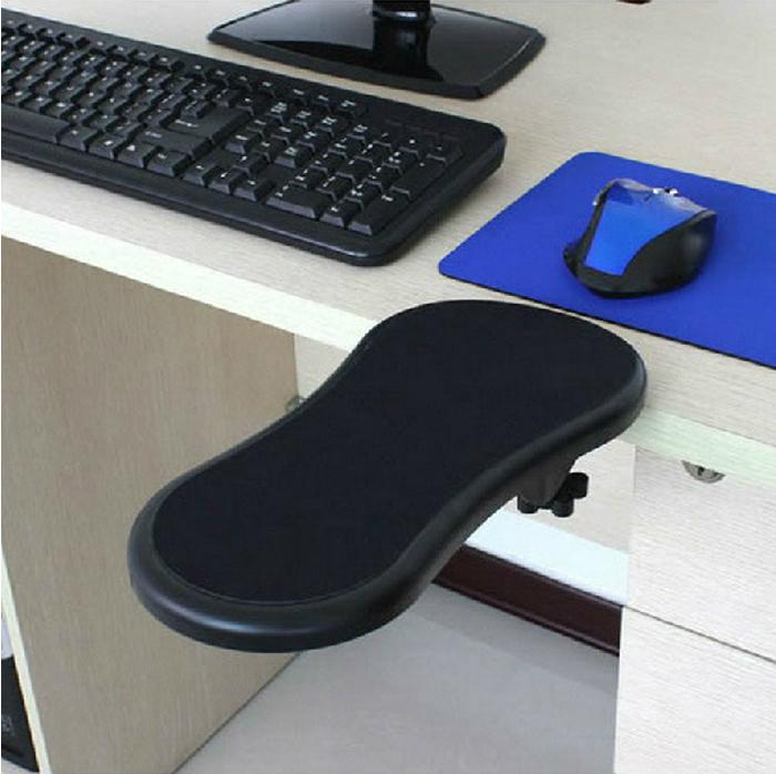 创意电脑手托架桌用鼠标垫护腕托手腕垫子可旋转臂托架腕托支架 键盘鼠标手臂托鼠标手延长手臂架免打孔托盘