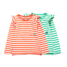 2015 new tide baby 2 years old the new foreign trade children's clothing and women fall child mailed stripe long sleeve top guard clothing bag used for travel