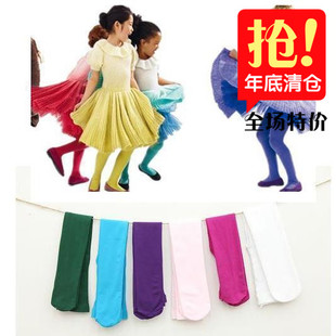 Spring and summer candy colored velvet stockings pantyhose child labor practice dance performances white socks big boy