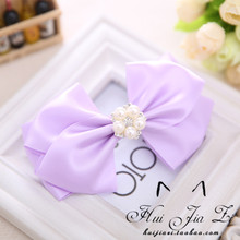 South Korea imported hairpin big bowknot hairpin spring clip horsetail clincher tire lateral fabric hair duckbill clip