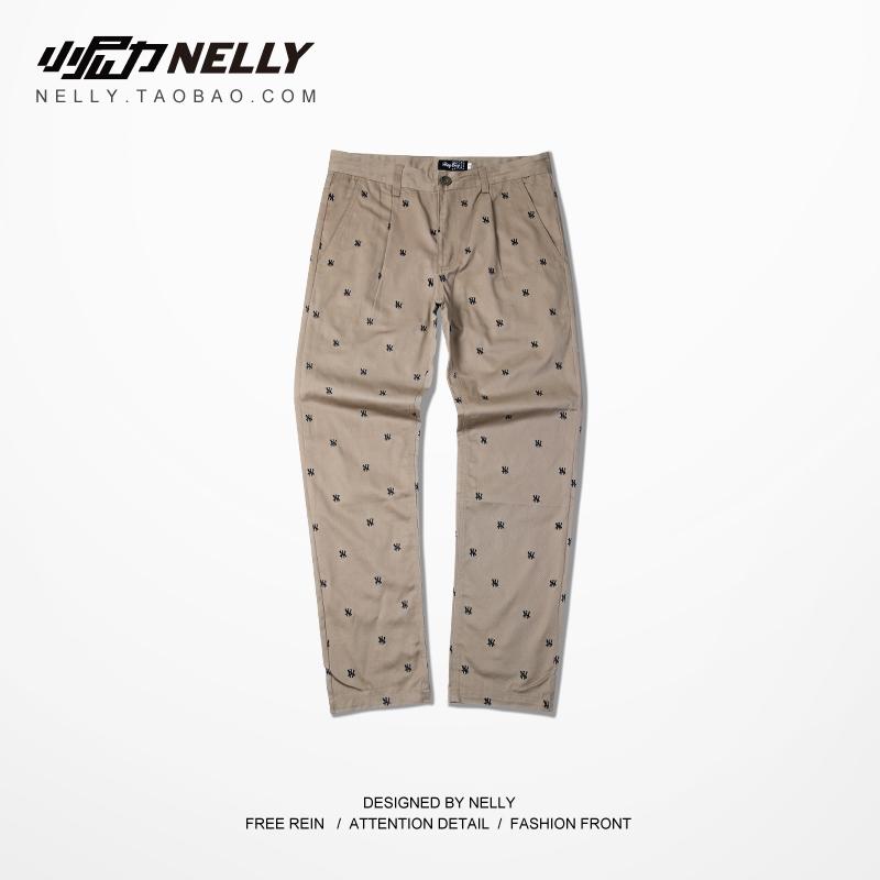 2015 Мужская новый хип-хоп стрит Нью-Йорк вышивка досуг брюки брюки брюки случайные уличные танцы письма