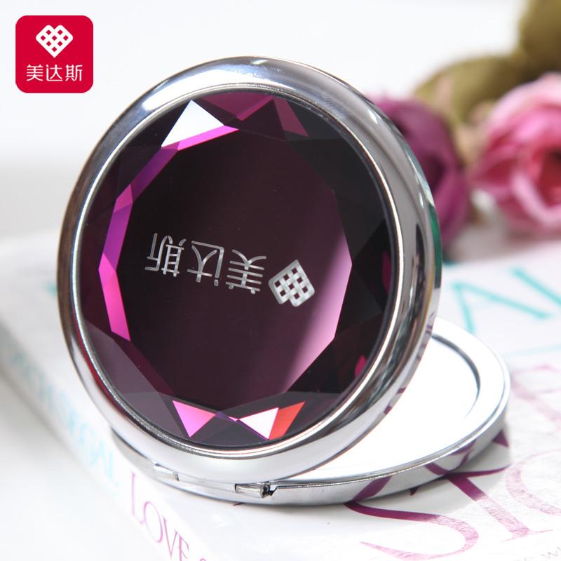 Прекрасный десять кубометров косметическое зеркало портативный портативный милый зеркало круглый 7 водяные линзы зеркало отрицательный 3 время увеличить
