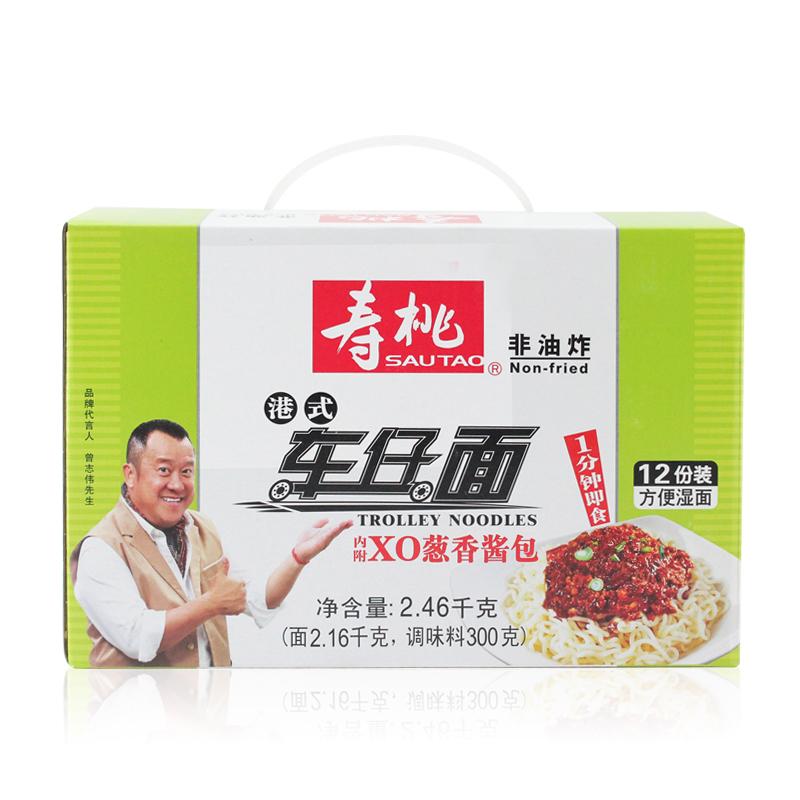 香港壽桃 非油炸方便麵 7~11車仔麵蔥香醬撈麵 12包