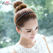 Deft Korean hair accessories fashion simple wave pattern, diamond-edge thin headband hairpin hair from ear headwear