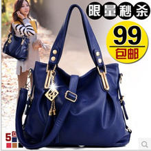 Lady handbags fall 2015 new contracted middle-aged female bag leather bag lady's shoulder his handbag