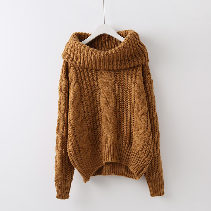 Водолазки свитера твист свитер девушка корейской версии корейской версии потоков свитер вязать свитер наборы свободные куртки девушки