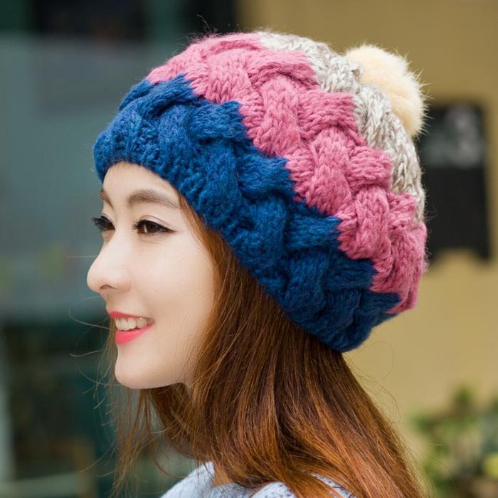 Крытая почта кролика провода шляпа женская мода осень-зима, Корейская волна тепловой наушники вязаная зимняя шляпа леди Корея шляпа