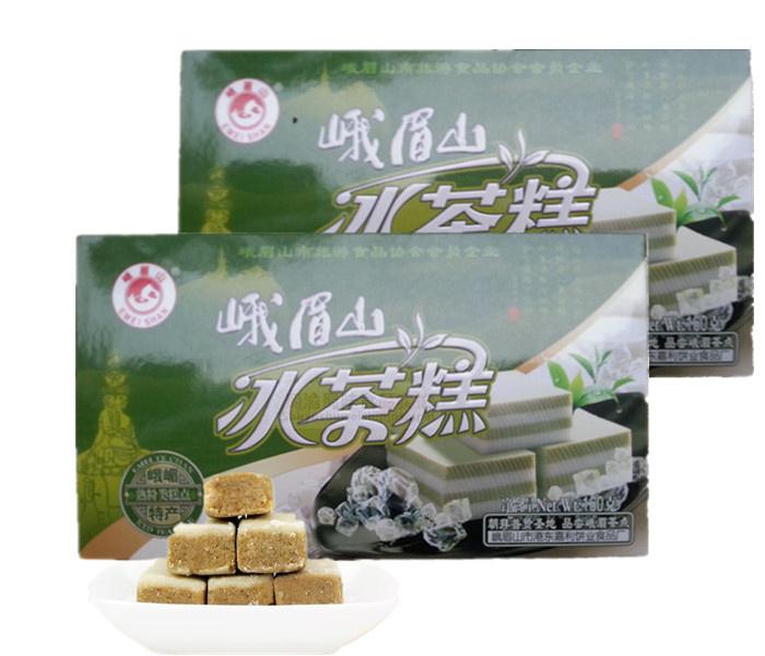 四川成都特产糕点峨嵋山冰茶糕160克 细致美味馈赠传统糕点礼盒装