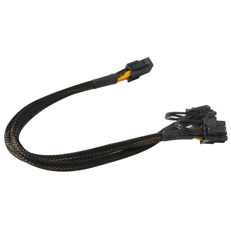 PCI-E graphics 6Pin turn 8pin bis (6 + 2) rotating twin 6pin auxiliary power supply line + power line 6 30cm