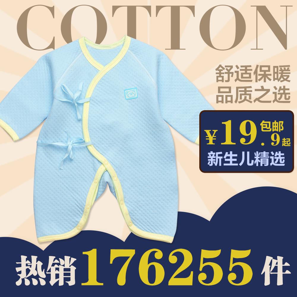 Onesies Baby с 0-3 в осенние и зимние месяцы, новорожденных одежда хлопок теплые детские Бабочка одежды