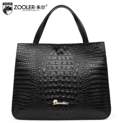 Jules new leather handbag crocodile pattern for fall/winter leisure shopping bag bags cow leather ladies shoulder bag women