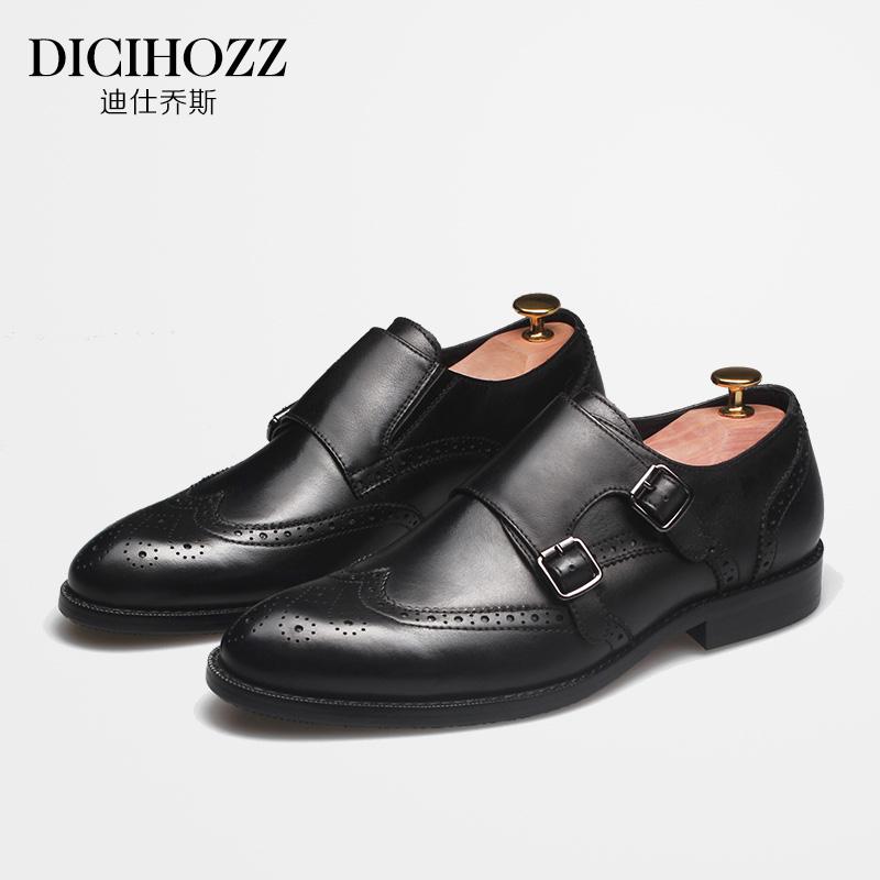 b64dfdcf864 Британская мода мужская обувь наконечник волосы тип модельние кожаная обувь  монах спутник Мэн грамм обувной мужской бизнес официальная одежда резьба ...