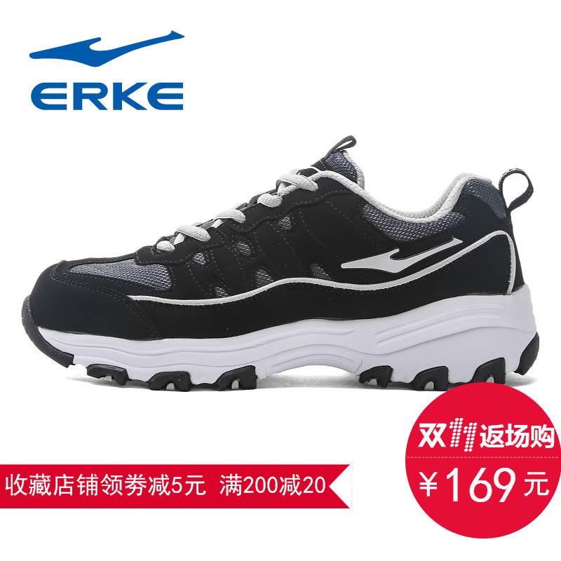 鴻星爾克女鞋 鞋 跑步鞋潮流熊貓跑鞋耐磨防滑情侶 鞋男