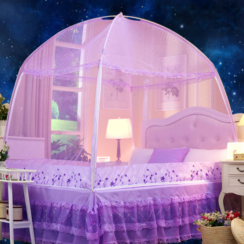 蚊帳蒙古包三開門1.2 1.5 1.8m米床雙人家用單人拉鏈支架學生宿舍
