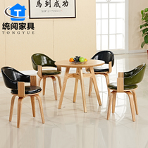 Fashion Cafe Milk tea shop Dining Chair Bar chair four-legged chair cinema 4S shop sales Office Reception negotiation table and chair combination