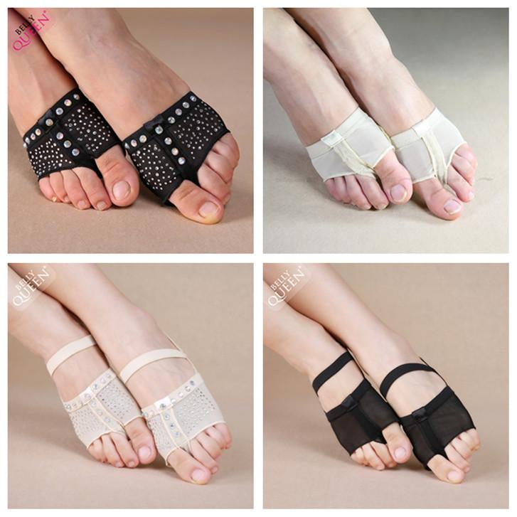 Бесплатная доставка рубец кожа обувь назад ноги устанавливать тело ноги крышка половина пальма носки балет гимнастика танец практика гонг обувной