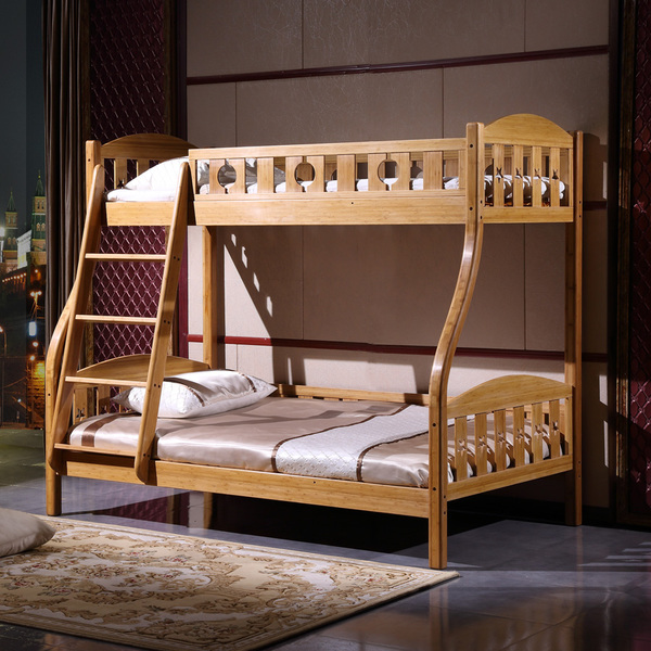 竹制家具儿童床双层床子母床高低床上下床铺竹子全实木床三包到家