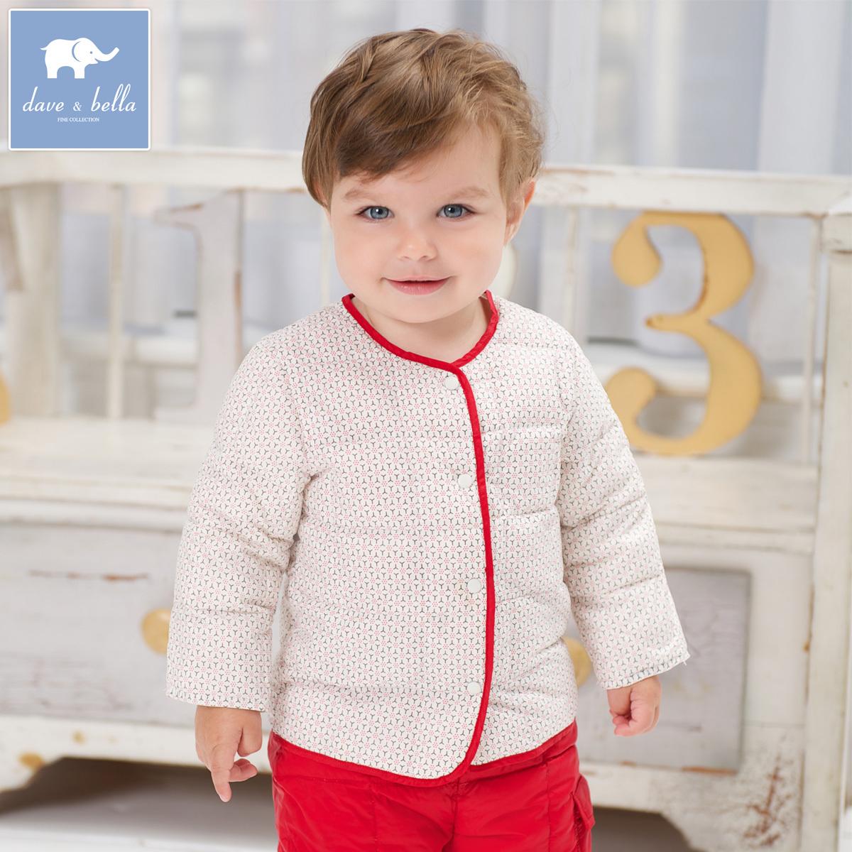 Вниз пальто для осень/зима davebella daiweibeila ребенка новорожденного перо безрукавка YR