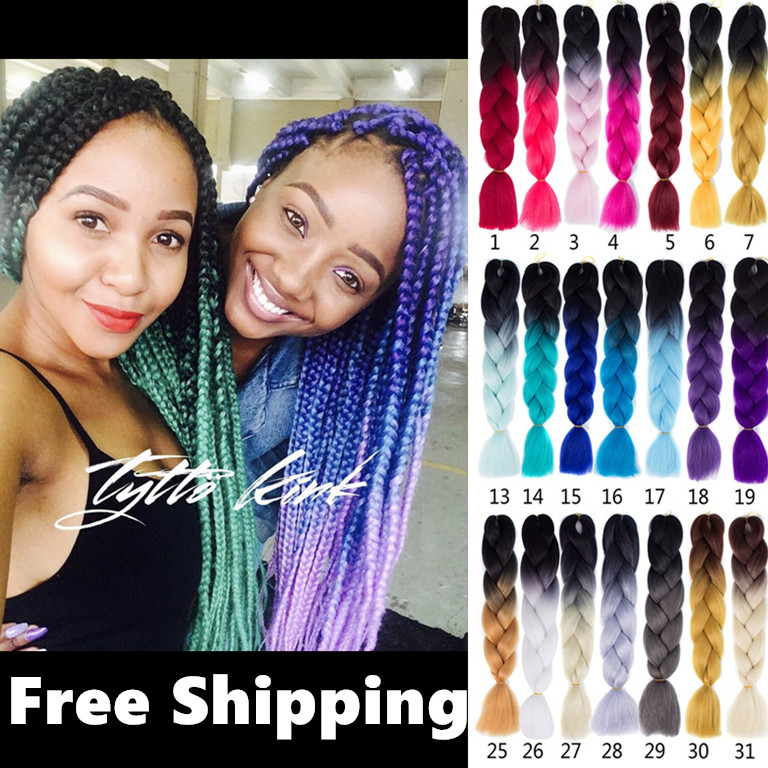 xpression twist Braids hair ombre braid jumbo expression脏辫