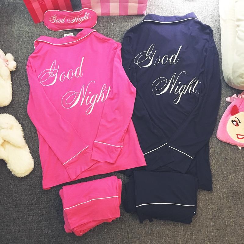 GN письма пара пижамы, пижамы и отдыха для мужчин и женщин в Европе и Америке спокойной ночи тонкой сплошной цвет хлопок модальных длинные свободные периода весны и осени