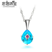 925 silver necklace women set auger silver crystal pendant chain of clavicle droplets silver adornment necklace Chinese birthday gift