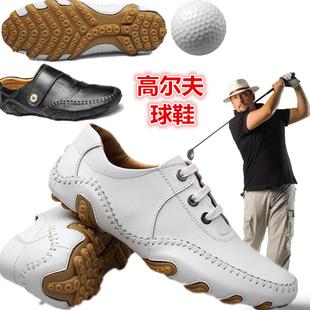 真皮高尔夫球鞋轻便男鞋golf透气防水防侧滑鞋头层牛皮休闲运动鞋
