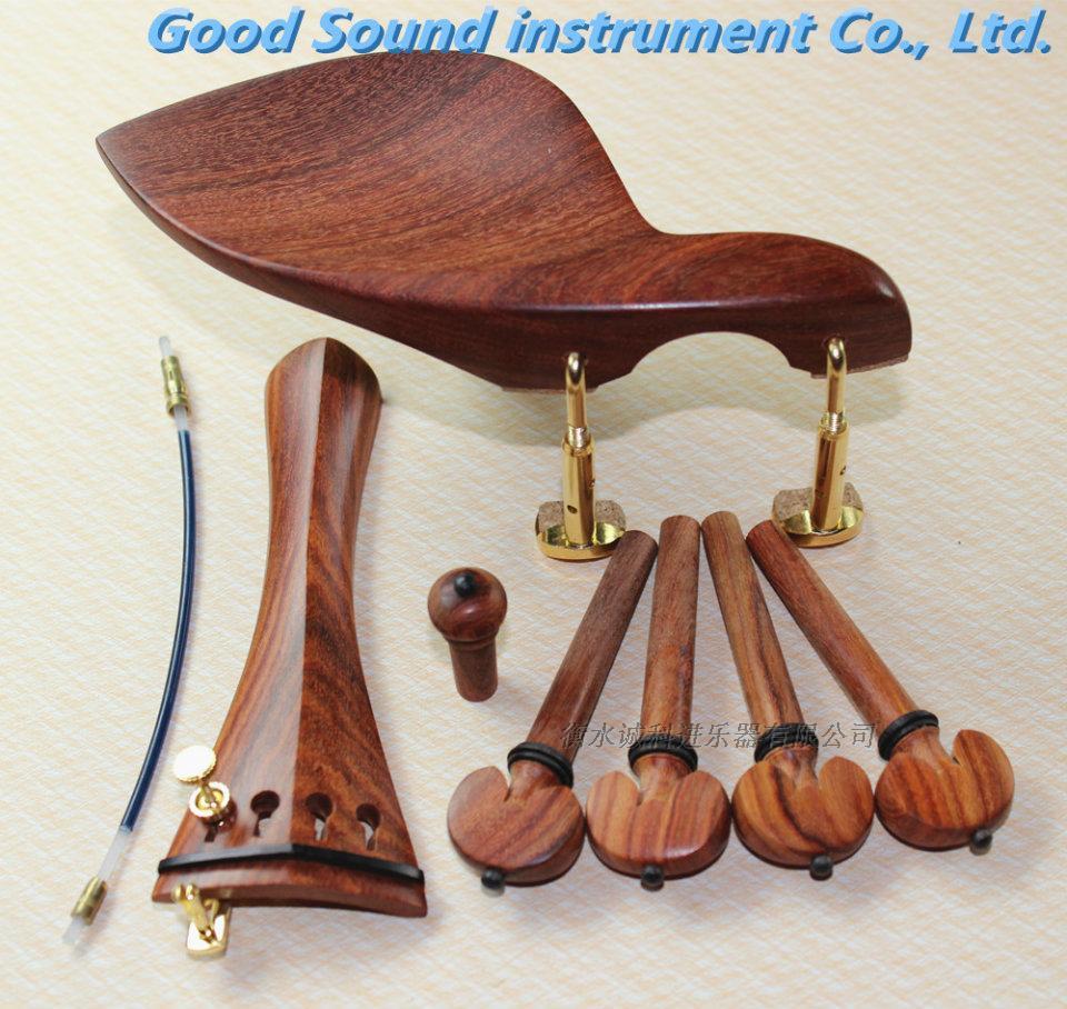 Высококачественный скрипка монтаж красное сандаловое дерево скрипка монтаж аккорд кнопка тянуть аккорд доска щека уход полный набор деталей