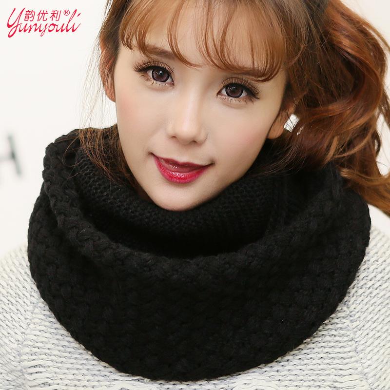 Женский Корейский шарф зимний шарф дамы зимой теплый шарф утолщенной хеджирования Корея воротник шерсти шарф