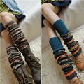 秋冬加厚型波西米亚民族风袜套女过膝护腿袜护膝靴套踩脚裤堆堆袜