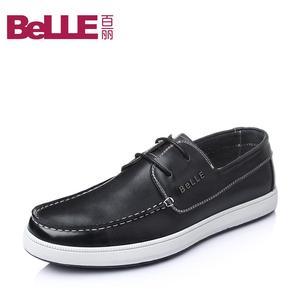 Belle/百丽2016春季新款牛皮男单鞋AB017AM6