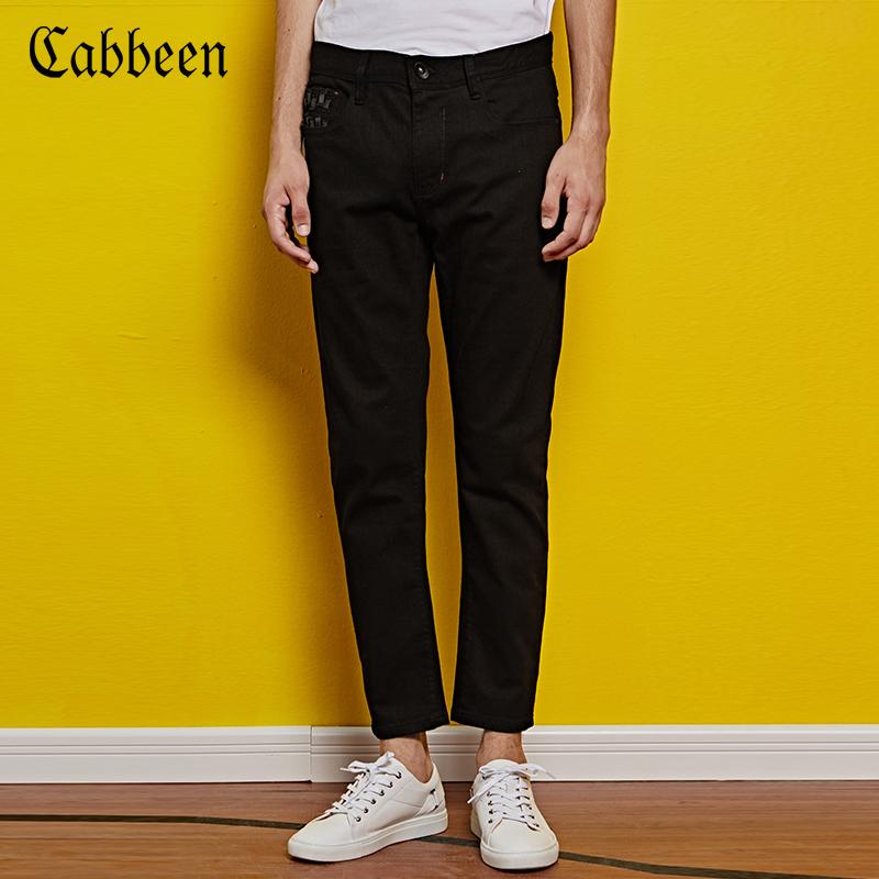 卡賓 黑色男士牛仔長褲