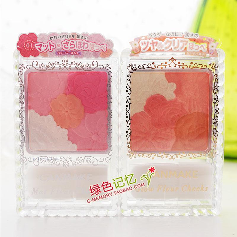 日本购★井田CANMAKE 花瓣雕刻四色珠光芙蓉粉嫩腮红/亚光4色到