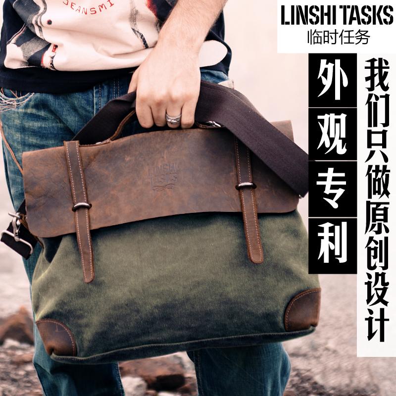 Человек сумки холст сумка мужчин плечо перекинул портативный Messenger сумка для случайных ретро Чао Бао Yinglun Корейский мешок