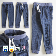 Special offer! Foreign trade children's clothing in the nine months to 7 years old boy child wool pile in the spring and autumn pants/sports leisure trousers