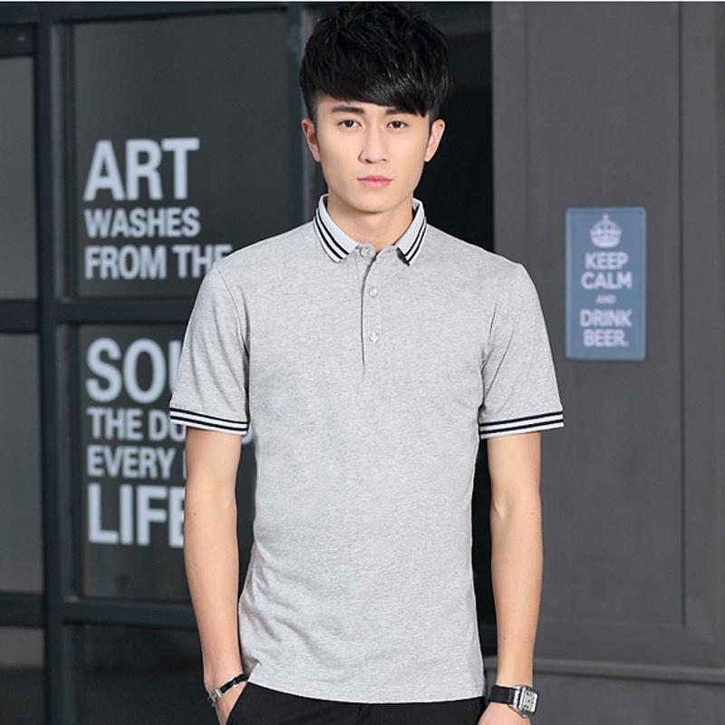 純棉男裝 2016夏裝 男士短袖T恤 襯衫領 修身體恤polo衫