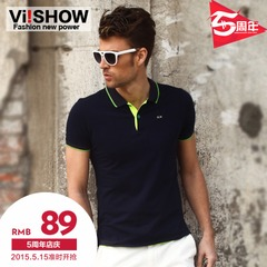 Viishow men's short sleeve polo shirt slim fit polo shirt business and leisure in the summer comfortable cotton POLO shirt