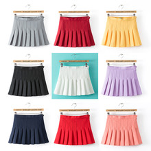 The new show thin Europe and the United States tennis skirt of tall waist institute wind nifty small short skirt han edition of female skirts umbrella skirt pleated skirt
