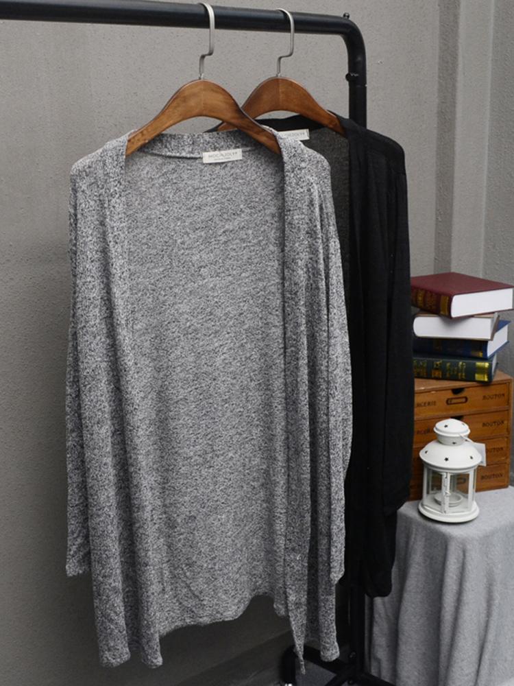 包邮欧美风中长款长袖空调防晒衫开衫披肩外套薄款针织衫大码女