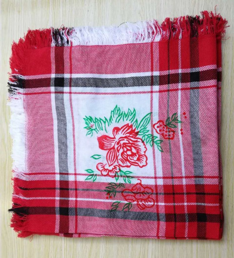 Parcel post cotton old style square scarf for rural women