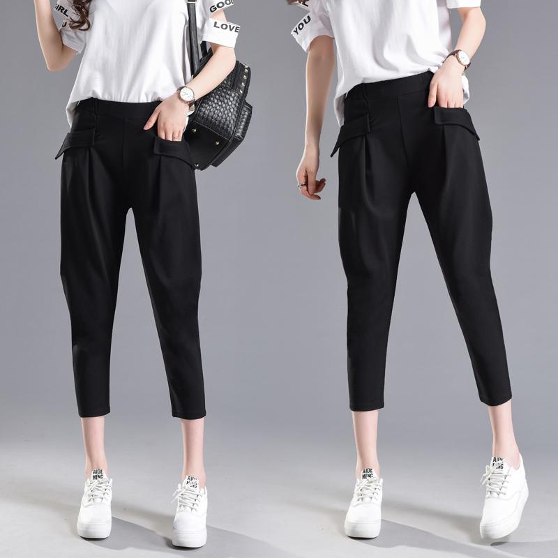哈伦裤怎样搭配:牛仔哈伦裤搭配图