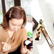 Know Richie jewelry made by the Korean version of Leopard-print hair clip yakeliliuhai clip spring clip clip Clip