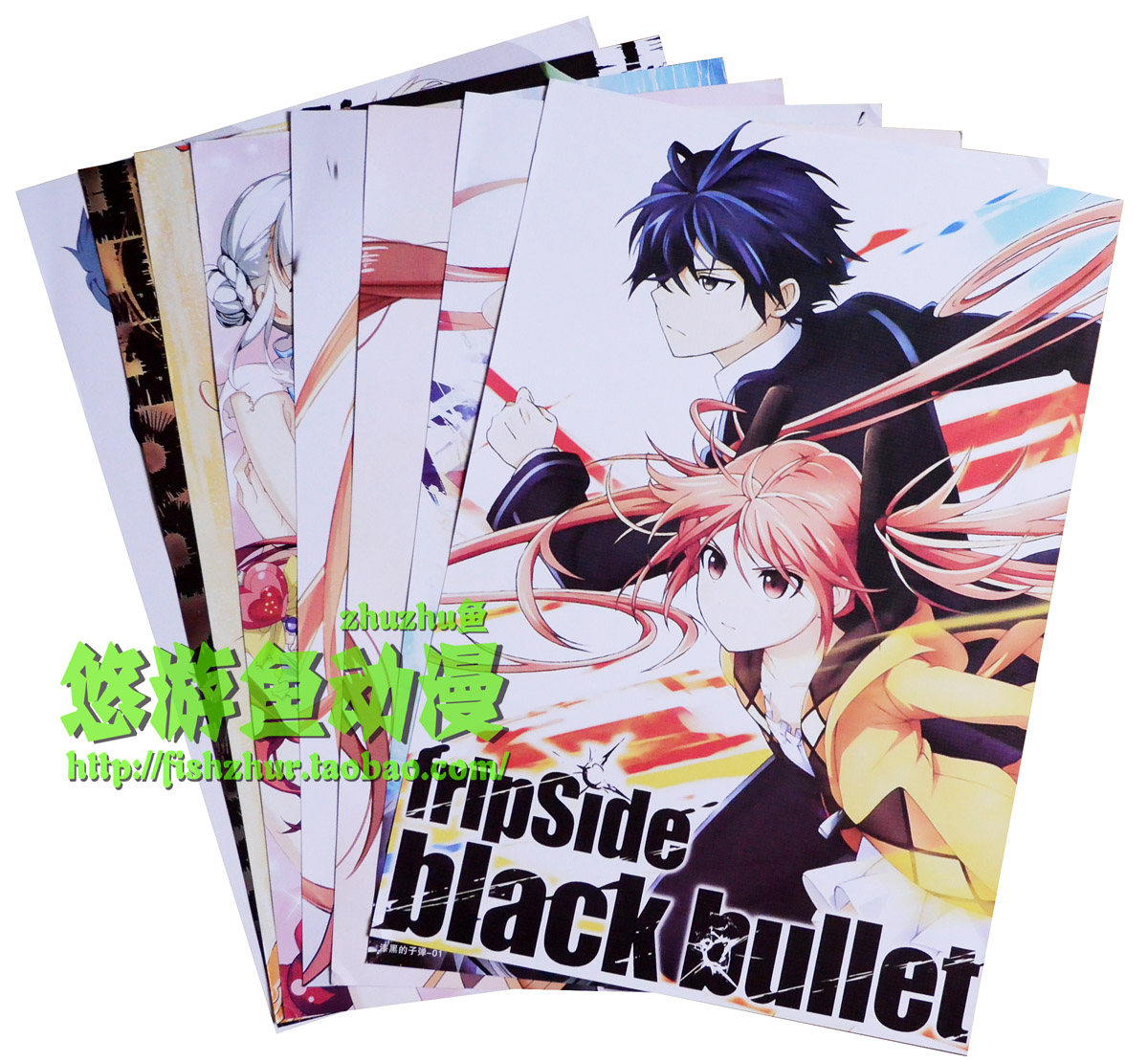 Black bullet poster black bullet pictorial mural of lotus taro blue yuan Yanzhu Wall Sticker