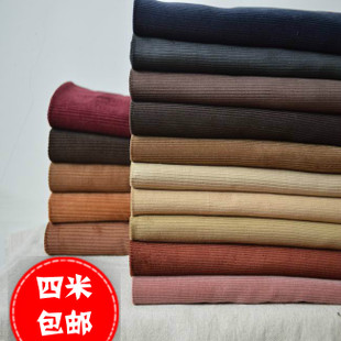 Han Shan Deals retro color cotton thick corduroy corduroy fabric garment trousers cotton fabric hand made DIY