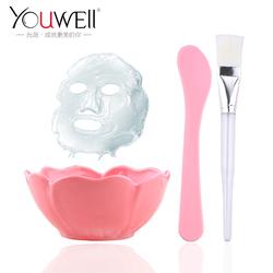 允薇DIY面膜碗工具 化妆面膜自制美容工具压缩面膜碗棒/刷三件套