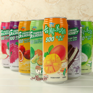 台湾饮料通天下冠禾果汁美馔芒果汁番石榴汁百香果汁490ml