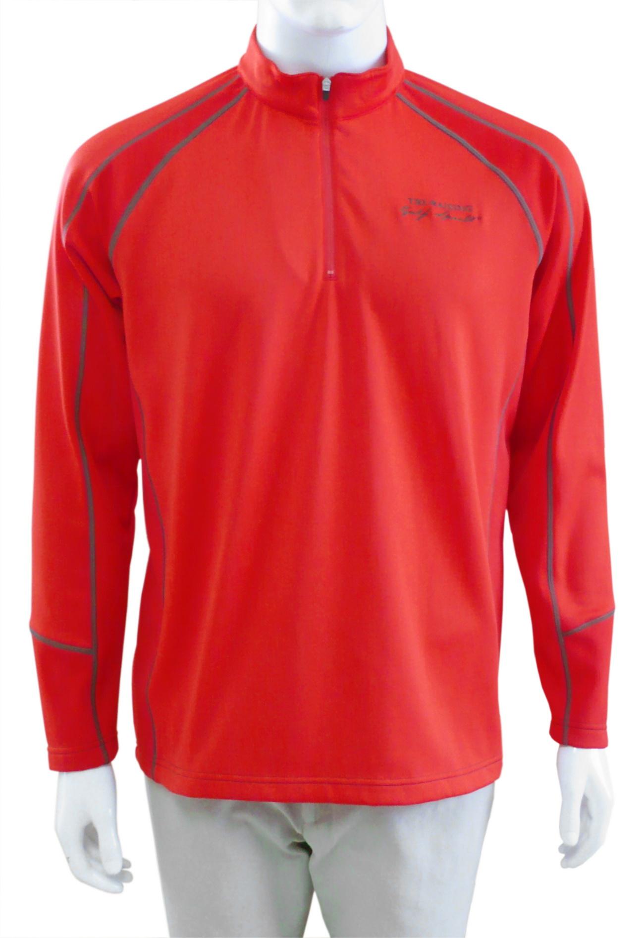 男式户外运动长袖套头衫防风速干彩色高尔夫衫男中年款