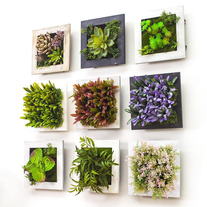 貝拉 田園立體牆飾 仿真植物牆上裝飾品壁掛 客廳牆麵壁飾掛件