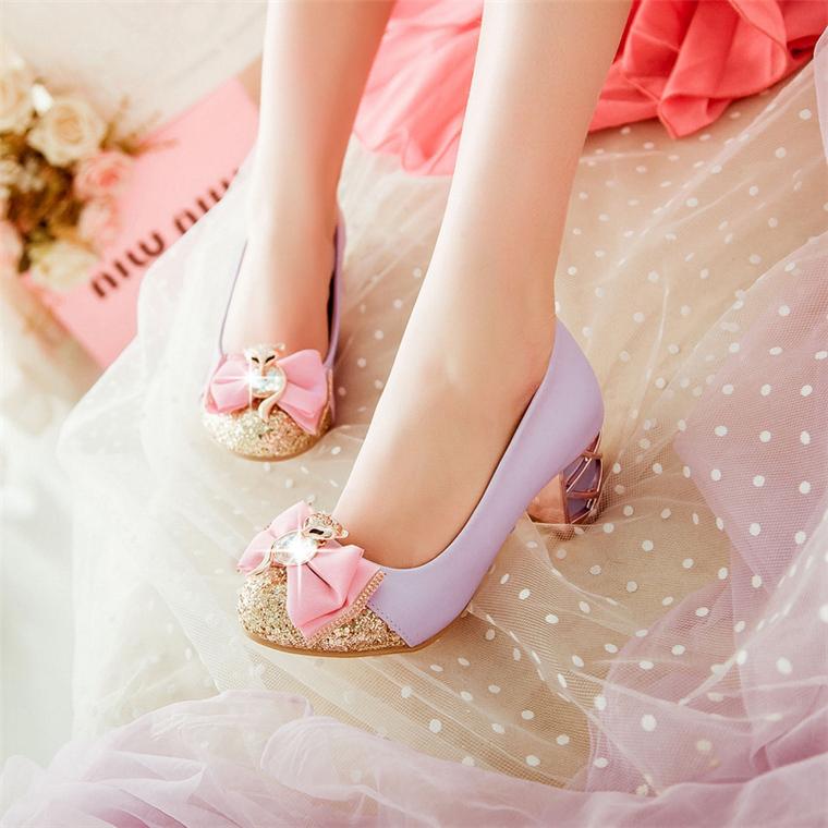 儿童女童小皮鞋女孩礼服超高跟鞋水晶公主鞋演出钢琴表演小主持人