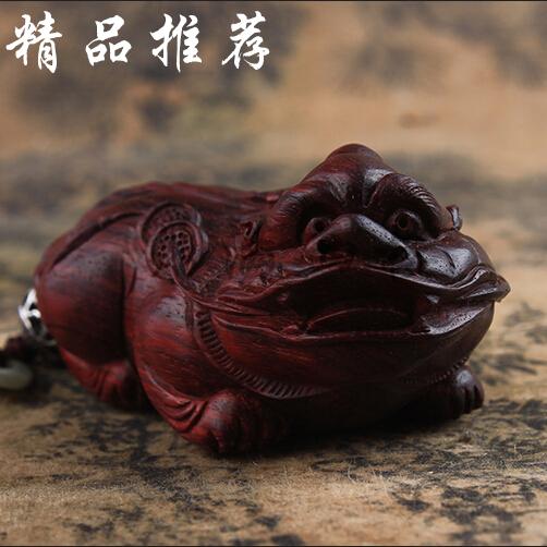 正宗印度老料小叶紫檀貔貅手把件木雕皮丘手玩挂件 风水辟邪摆件